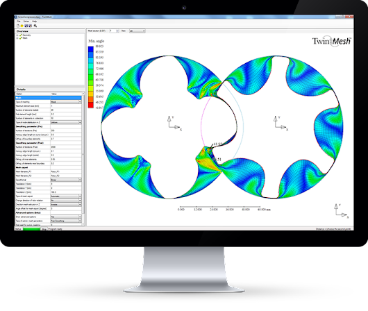 TwinMesh | Reliable CFD analysis of rotary pd machines