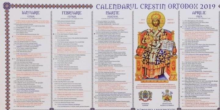 Calendar Crestin Ortodox 2021 Cand Nu Se Fac Nunti ...