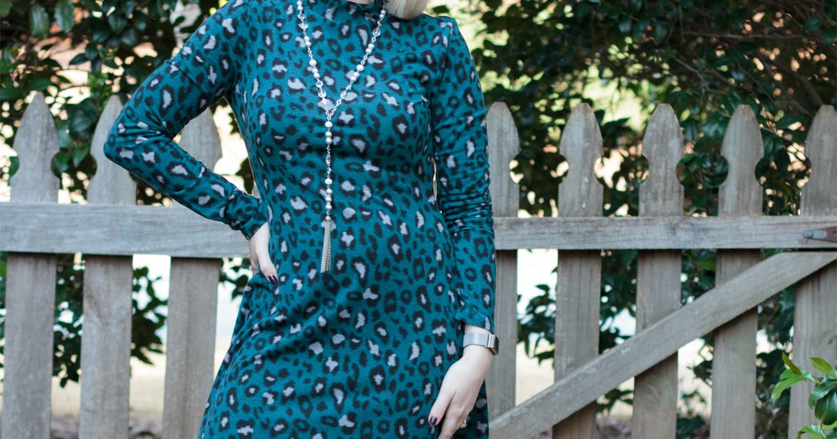 Turquoise Dress With Black Shoes