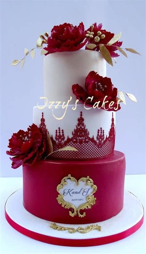 Ruby Wedding Anniversary Cake   Cake by Isabelle's Cake