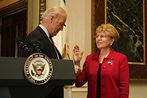 NOAA Administrator, Dr. Jane Lubchenco is swor...