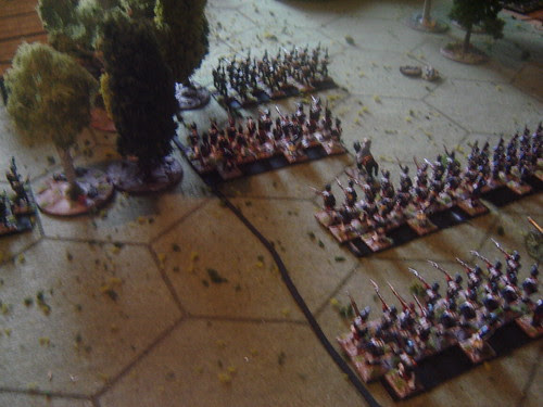 Mass infantry on the French right