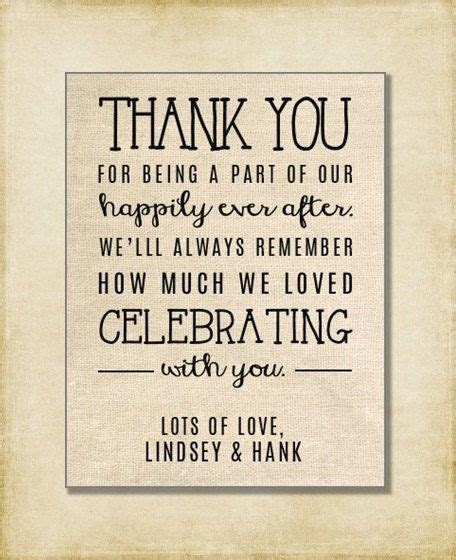 Wedding Thank You Note Welcome Bag Wedding by