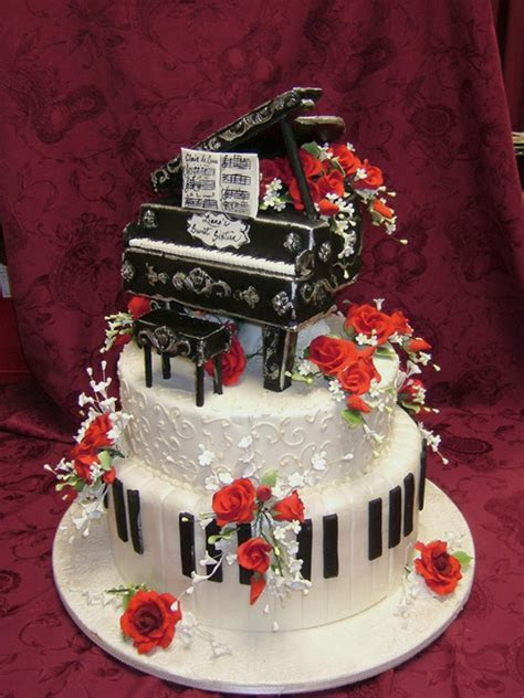 Baby Grand Piano Cake   Jackie's Cake Boutique