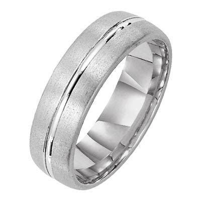 Modern Engraved/brushed finish men's wedding ring from