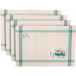 DII 100% Cotton, 13x 19 inch Everyday Basic Placemat Set of 6, Camper