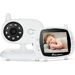 video baby monitor baby security camera with 3.5'' tft lcd 2 way talkback 2.4ghz digital infrared night vision temperature monitoring system