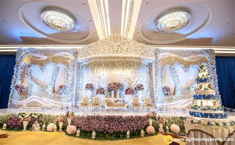 The wedding stage for Tommy and Fefe at Raffles Jakarta
