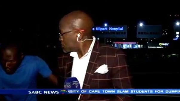 South African news presenter mugged during live cross
