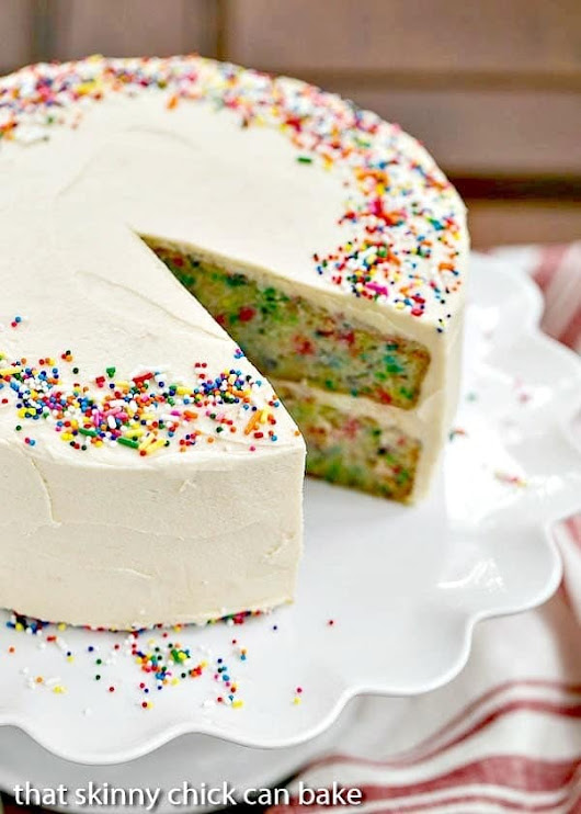 Confetti Cake #WeekdaySupper #CakeMagic - That Skinny Chick Can Bake