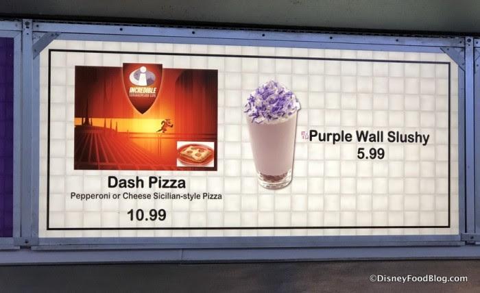 Dash Pizza and Purple Wall Slushy