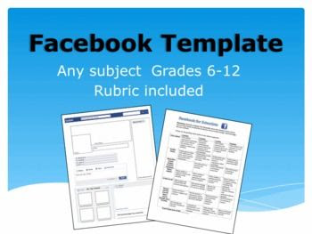 Editable facebook template for any subject- complete with grading ...