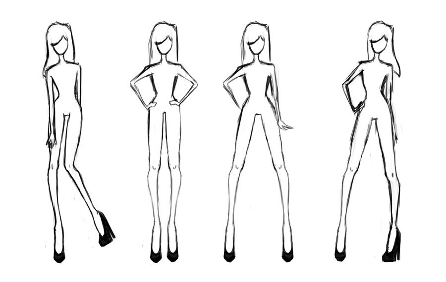 8 Best Images of Printable Clothing Design Templates - Fashion Sketch Body Template, Printable ...