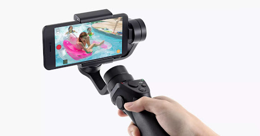 DJI Osmo Mobile is a 3-Axis Handheld Stabilizer for Your Phone Camera