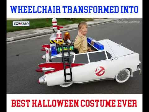 Wheelchair Transformed Into Best Halloween Costume Ever