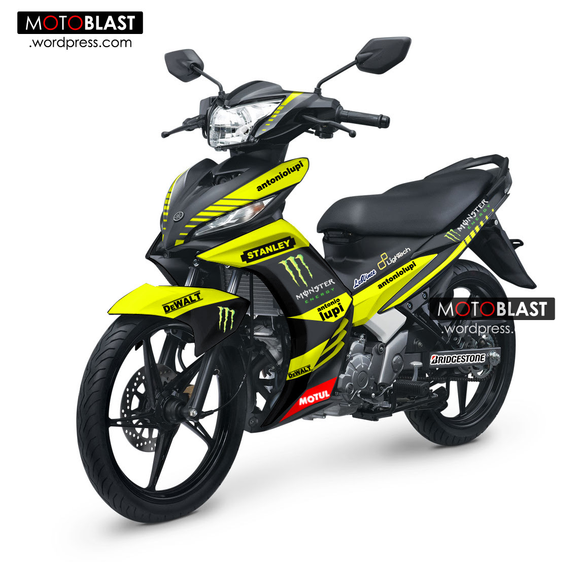 Modif Striping New Jupiter MX Ala TECH3 MotoGPpake Lebaran Asik