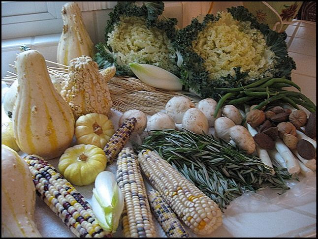 veggies to use in a Fall arrangement