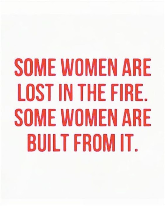 Some women are lost in the fire