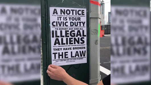 Flyers 'meant to intimidate immigrants' posted in Queens - CNN