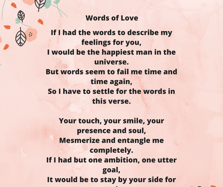 The perfect poem for her