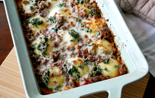 Cheese Ravioli Lasagna with Ground Beef Recipe