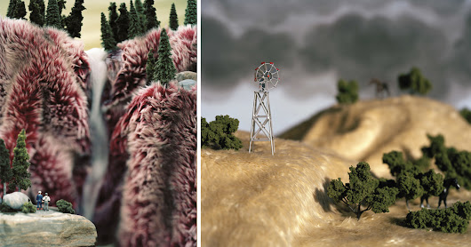 A Photographic Series of Miniature Faux Fur Landscapes Examines the Myth of the Wild West