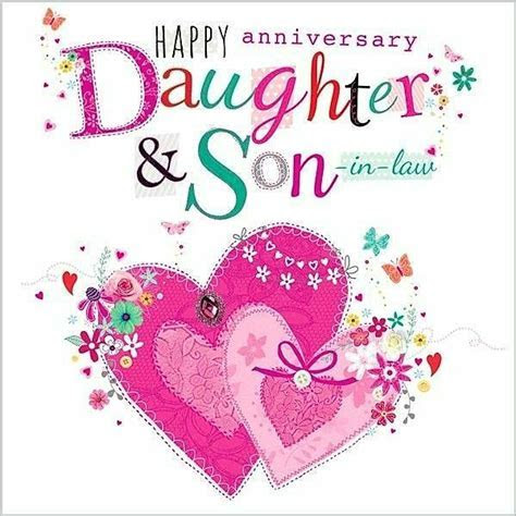 """Happy Anniversary Daughter & Son in law!""   Cards"