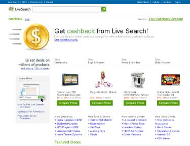 Microsoft Live Search Cashback Paying Off
