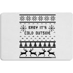 Baby It's Cold Outside Christmas Sweater Design 12 x 18 Placemat Set of 4 Placemats