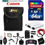 64GB Accessory Kit for Canon PowerShot ELPH 360 HS, ELPH 350 HS, ELPH 340 HS,...