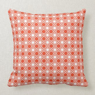 Tangerine Polka Dot Pattern Pillow throwpillow