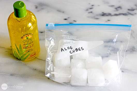 Soothe Summer Skin Woes With Frozen Aloe Vera Cubes - One Good Thing by Jillee