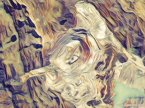 Geometric Art: Antamina Copper Mine, Huari, Ancash, Peru, Open Pit Mining Art