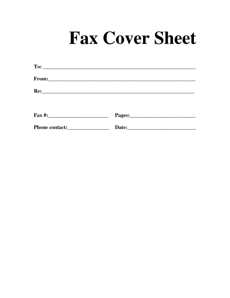 Free fax cover sheet template Download | Printable Calendar Templates