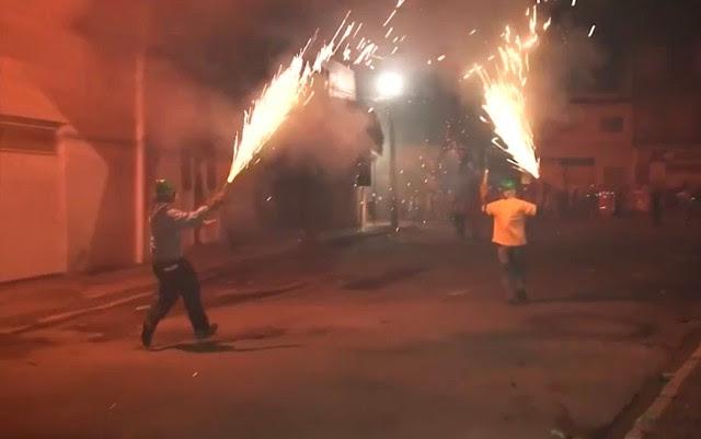 Guerra de espadas é vetada pela Justiça em Senhor do Bonfim, na Bahia (Foto: Reprodução/TV São Francisco