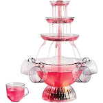 Nostalgia Vintage Collection Lighted Party Fountain, Clear