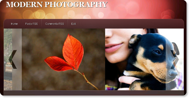 Modern Photography - Abstract Style Template