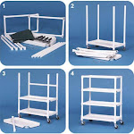 IPU 3-Shelf Deluxe Linen Cart (Replaces ELC30 & LC300) - Knockdown Version