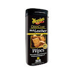 Meguiar's Gold Class Rich Leather Wipes - 25 premium wipes