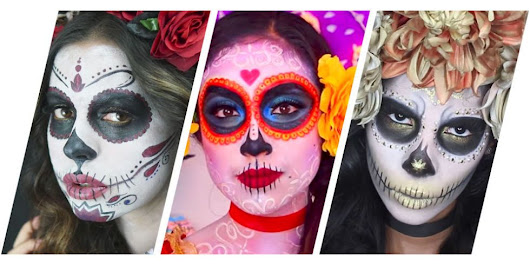 7 Gorgeous Dia De Los Muertos Makeup Ideas - Easy Day of the Dead Sugar Skull Tutorials
