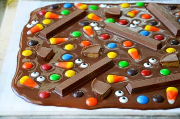 Just a Taste | Halloween Candy Bark