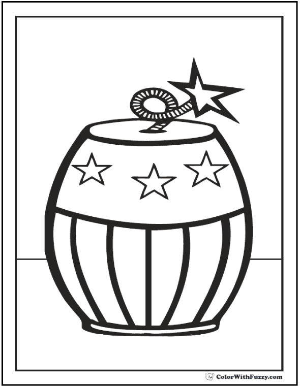 firecracker fourth of july coloring pages