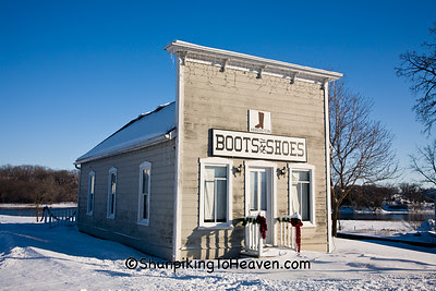 A. Kirchstein Boots & Shoes, Sauk City Historic Park, Sauk County, Wisconsin
