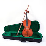 4/4 Acoustic Matt Violin Case Bow Rosin Strings Shoulder Rest Tuner Natural