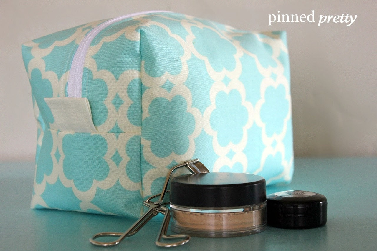 4 Large Lined Makeup and Cosmetic Bags CUSTOM by pinnedpretty