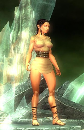 female character with no armor