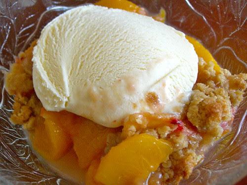 Peach Cardamom Crisp