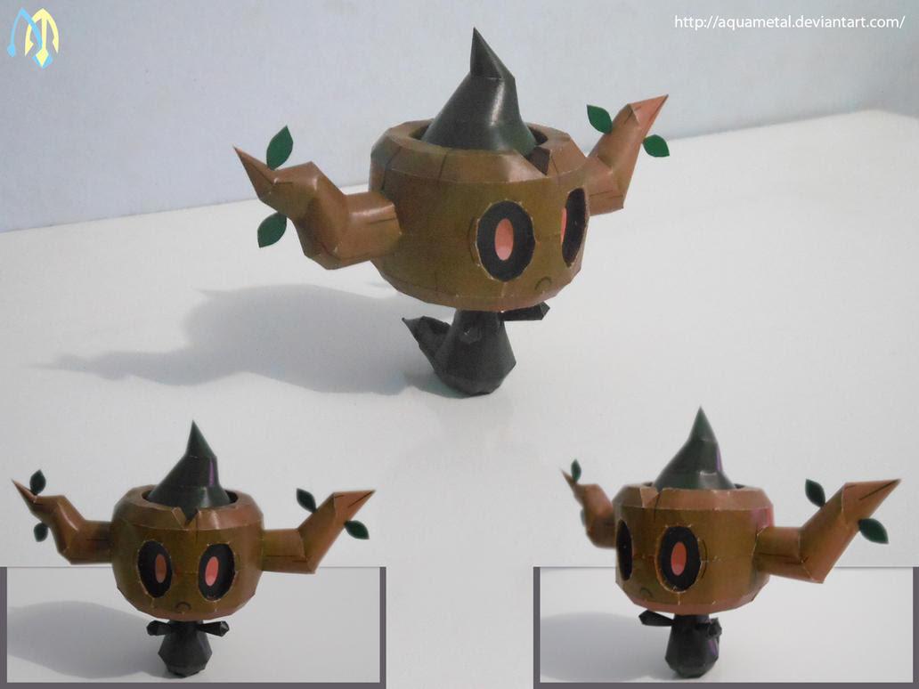 Pokemon Phantump Papercraft