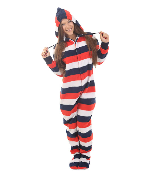 Red, White n Blue Footed Pajama Suit | Funzee