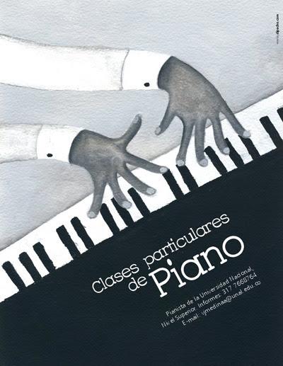 Afiche para amigo pianista, 2008.